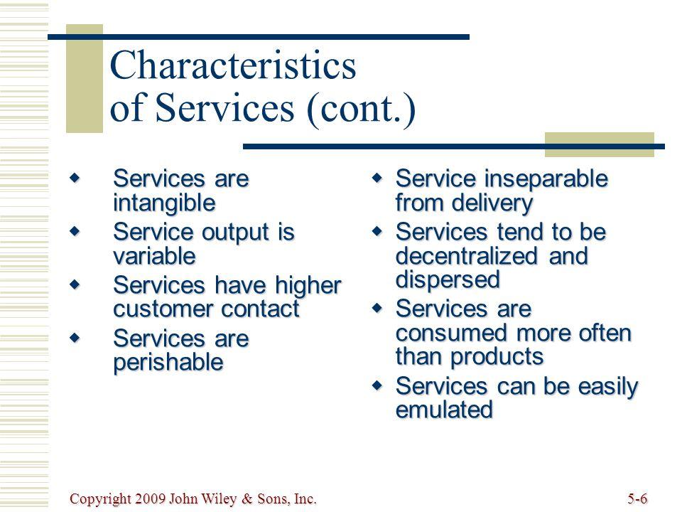 Copyright 2009 John Wiley & Sons, Inc.5-7 Service Design Process