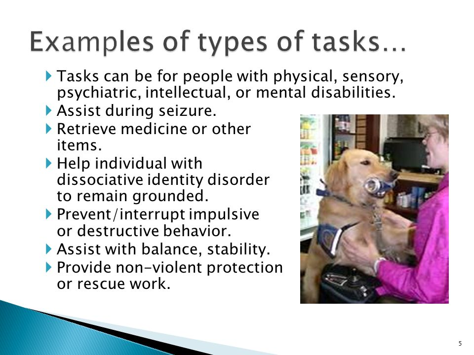  Tasks can be for people with physical, sensory, psychiatric, intellectual, or mental disabilities.