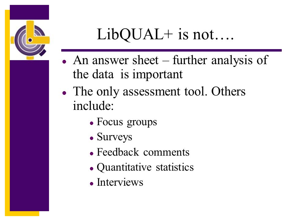 LibQUAL+ is not….