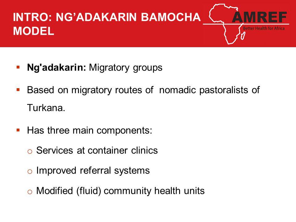 INTRO: NG'ADAKARIN BAMOCHA MODEL  Ng adakarin: Migratory groups  Based on migratory routes of nomadic pastoralists of Turkana.