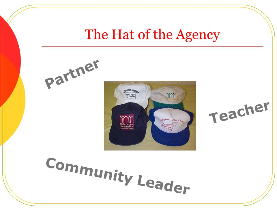 The Hat of the Agency Partner Teacher Community Leader