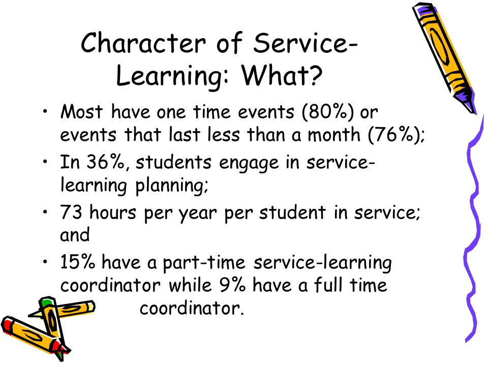 Character of Service- Learning: What.