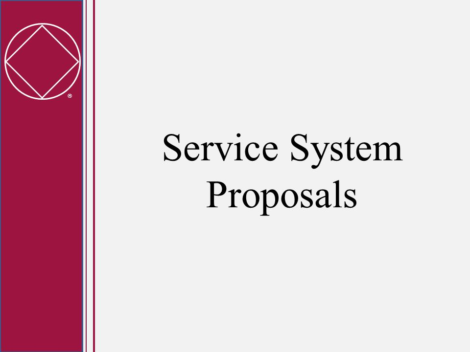  Workshop Objectives Provide an overview of the latest draft of the Service System Proposals Answer as many questions as possible Help to understand the resolutions and the straw polls
