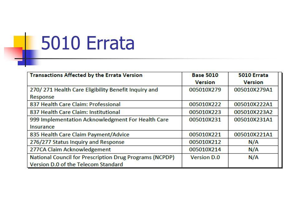 5010 Errata