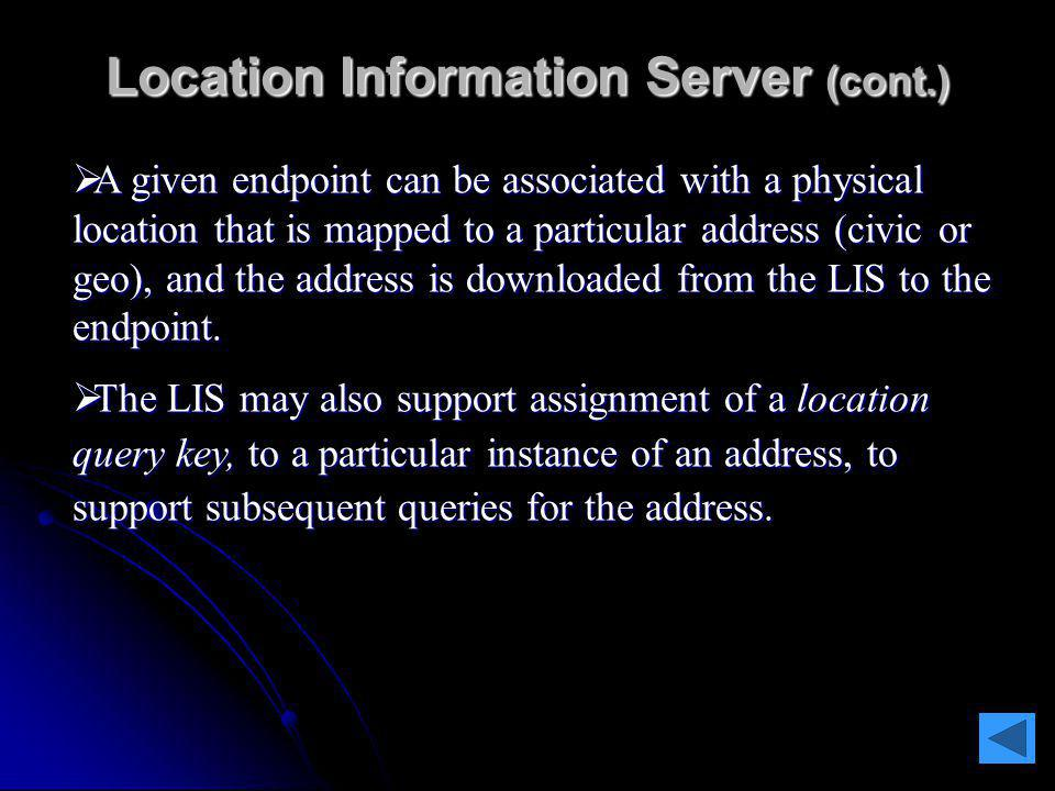 " The ""wiremap"" in the LIS is assumed to be configured and maintained by the entity that provides/maintains the physical or logical access facility fo"