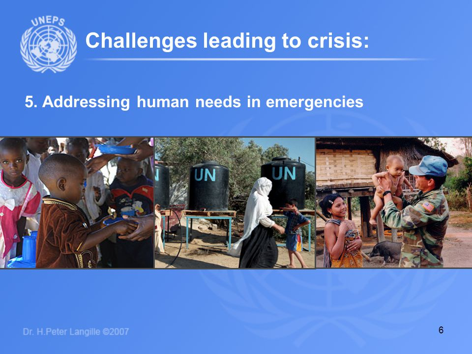 7 What is available to: We do have a universal organization already committed to these challenges… Prevent genocide and armed conflict Protect civilians at high risk Prompt start-up of peace operations Address human needs in emergencies
