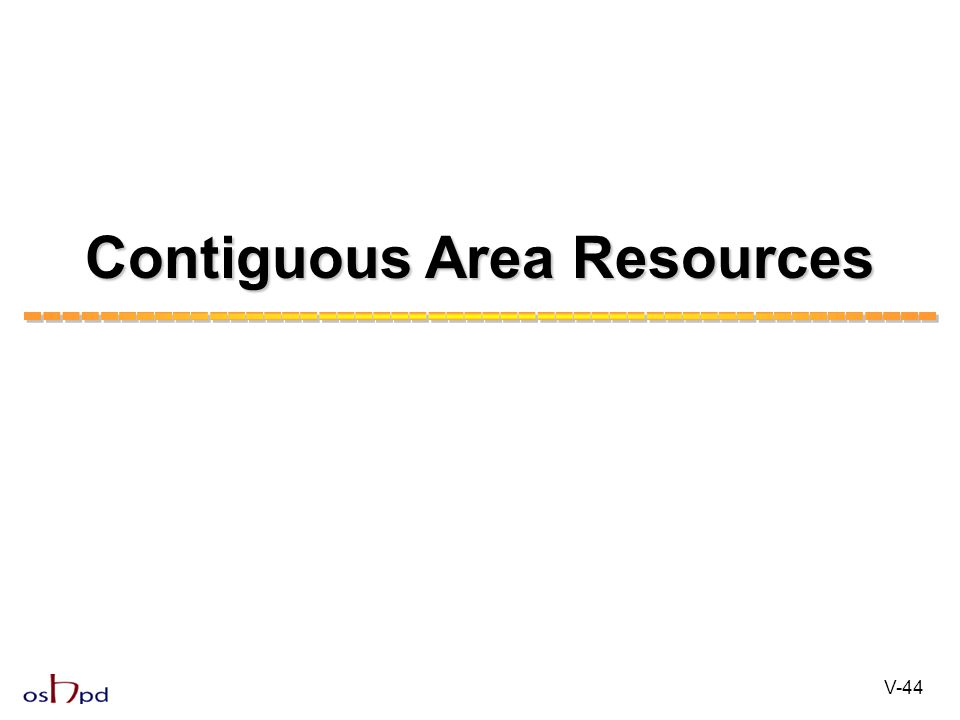 Contiguous Area Resources V-44