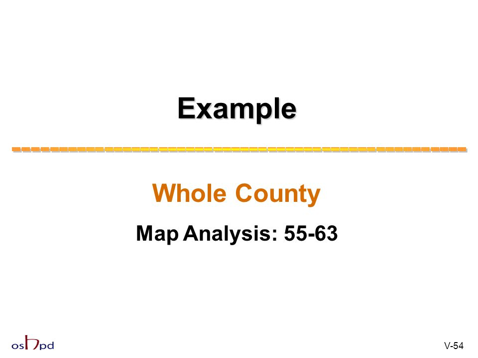 Example Whole County Map Analysis: 55-63 V-54