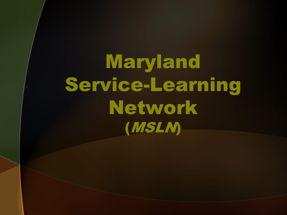 Maryland Service-Learning Network (MSLN)