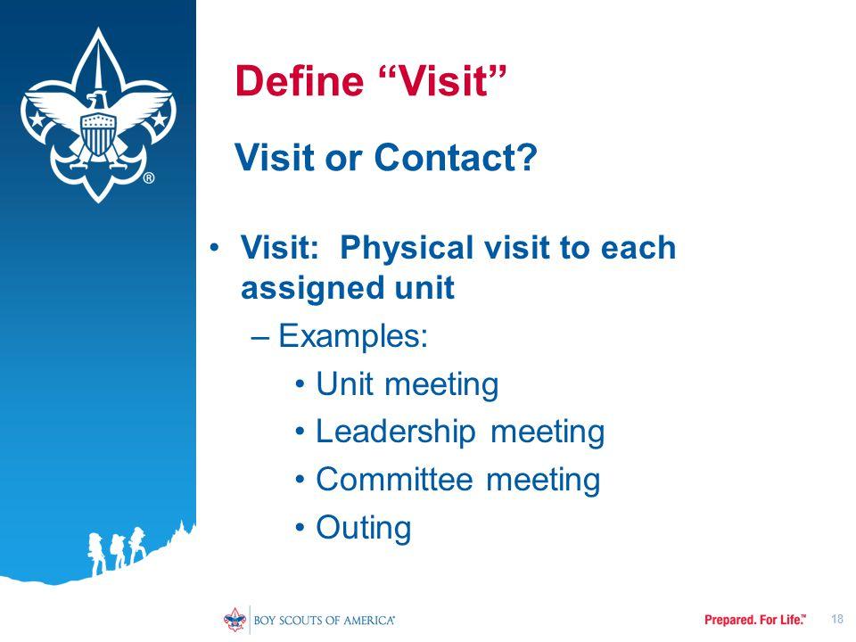 Define Visit Visit or Contact.
