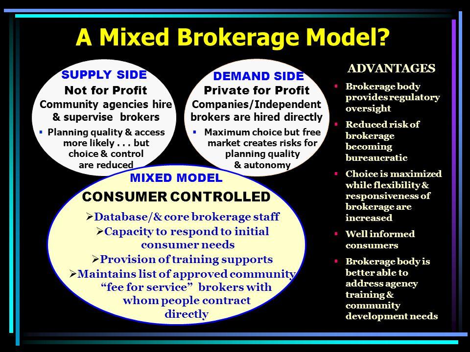 A Mixed Brokerage Model.