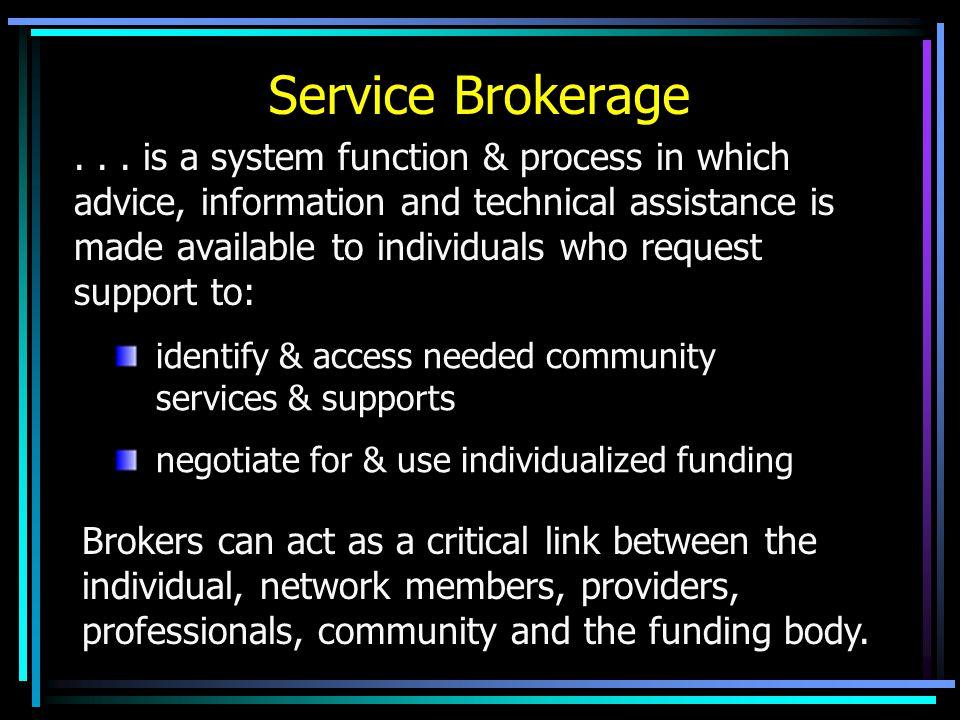 Service Brokerage...