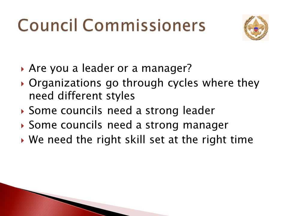  ADCs and Unit Commissioners ask these questions about their units ◦ Leadership ◦ Youth ◦ Chartered Organization ◦ Membership ◦ Centennial Quality Unit ◦ Recharter Reference: Chapter 13 of the Administration of Commissioner Service Manual, pages 25-26