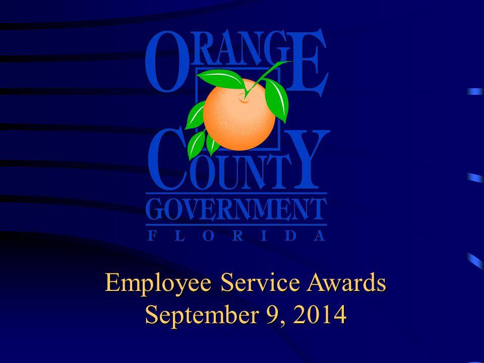 Employee Service Awards September 9, 2014