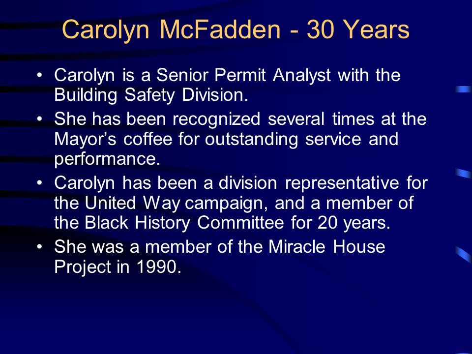 Lauren A. Buckner 35 Years