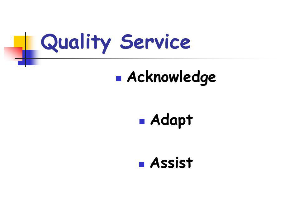 Quality Service Acknowledge Adapt Assist