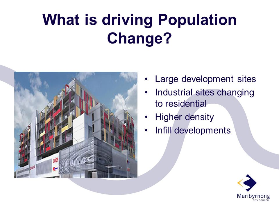 What is driving Population Change.