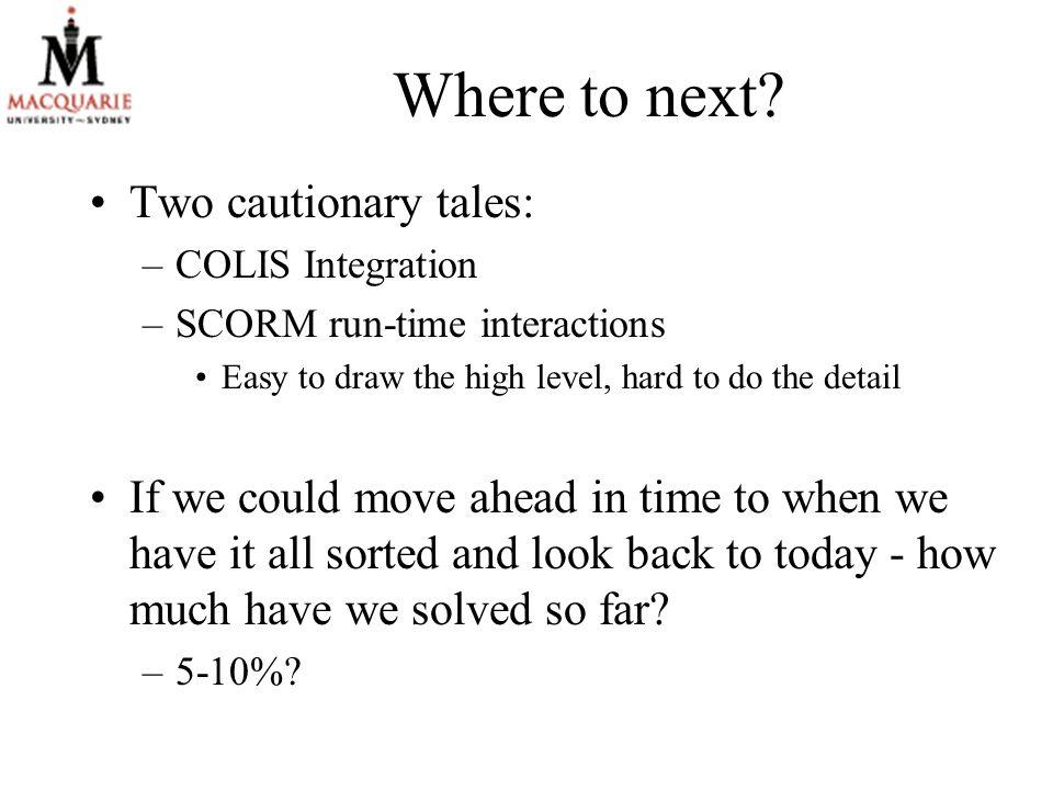 Where to next.