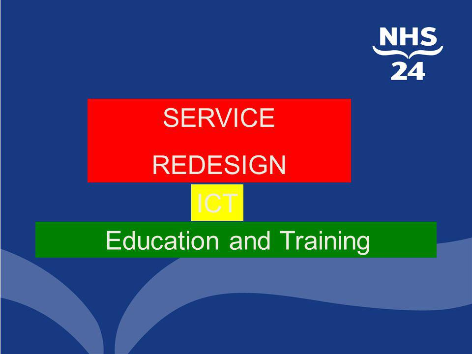 SERVICE REDESIGN ICT Education and Training