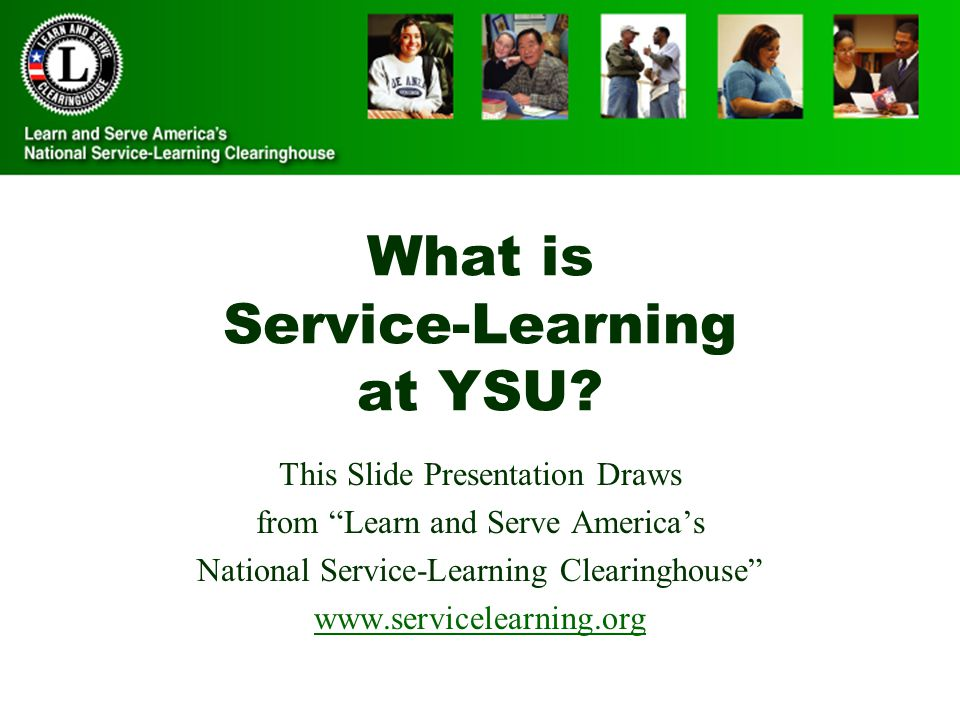 What is Service-Learning at YSU.