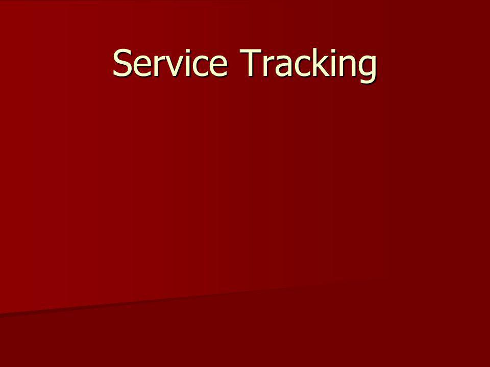 Services With Service Tracking we have 72 services to choose from.