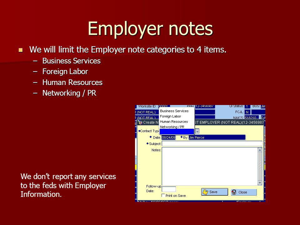 Foreign Labor We would add 6 purposes for the foreign labor program.