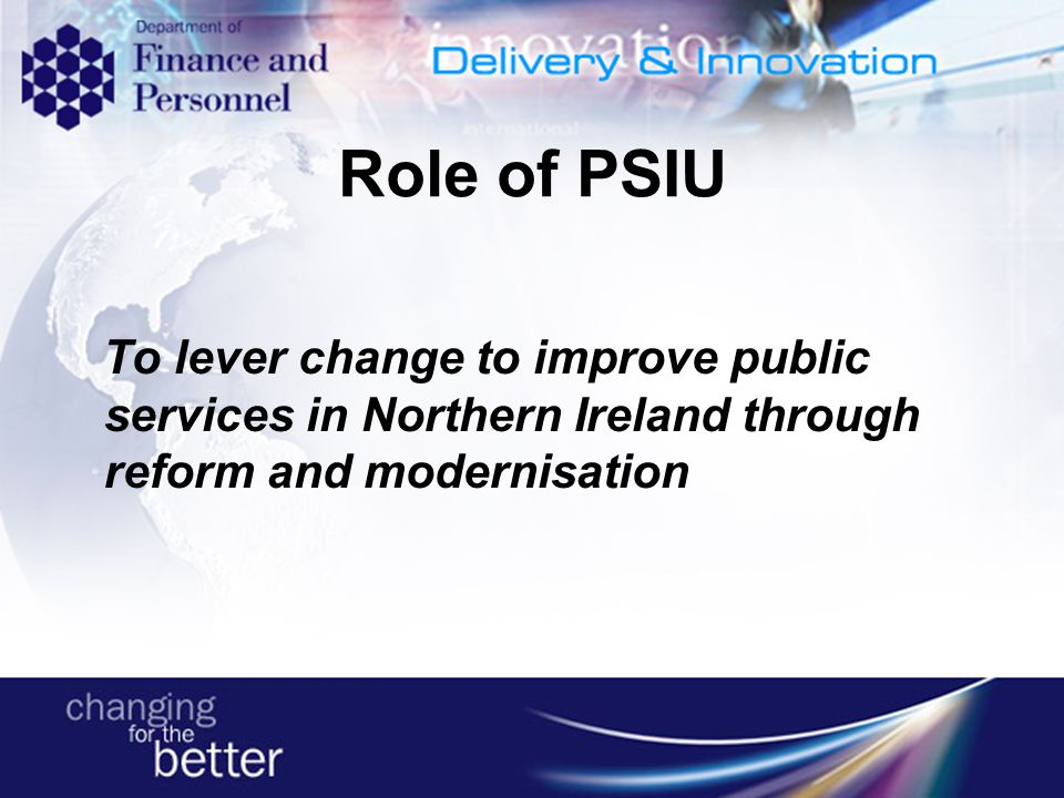 SCA Research: Presentation in house by the Public Service Improvement Unit On each of the Models: IIP, Charter Mark and EFQM Literature review