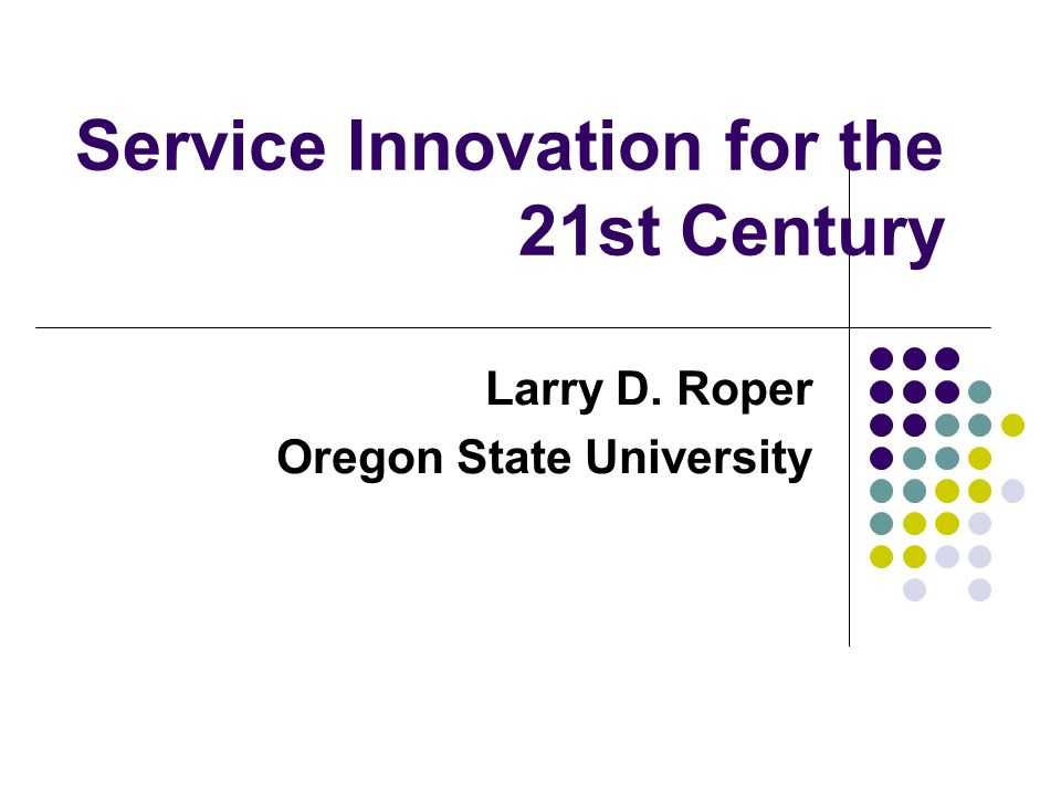 Service Innovation Contributes to competitive advantage – point of distinction Requires specific social and technical skills Involves development and the application of new technologies Costly to develop needed skills Delivered through integrated thinking and agile environment for deliverers of service