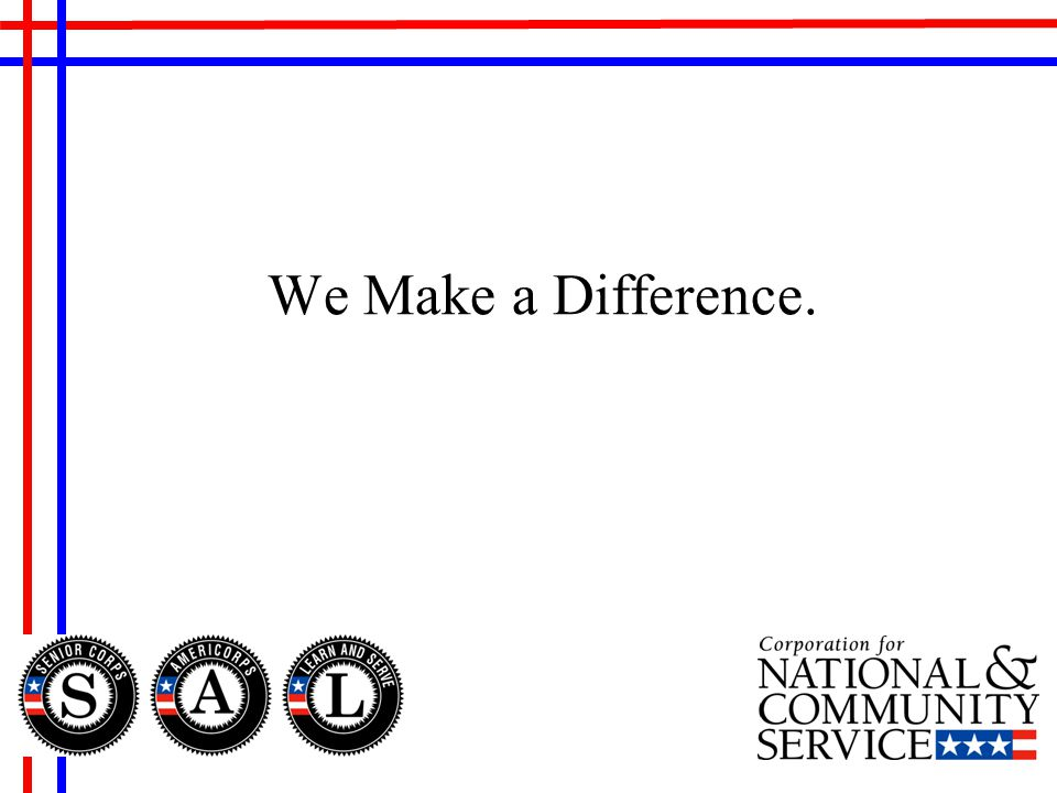 We Make a Difference.