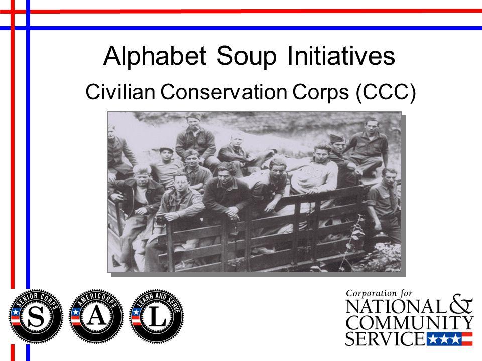 Alphabet Soup Initiatives Civilian Conservation Corps (CCC)