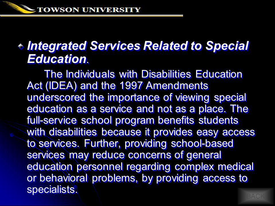 Integrated Services Related to Special Education.