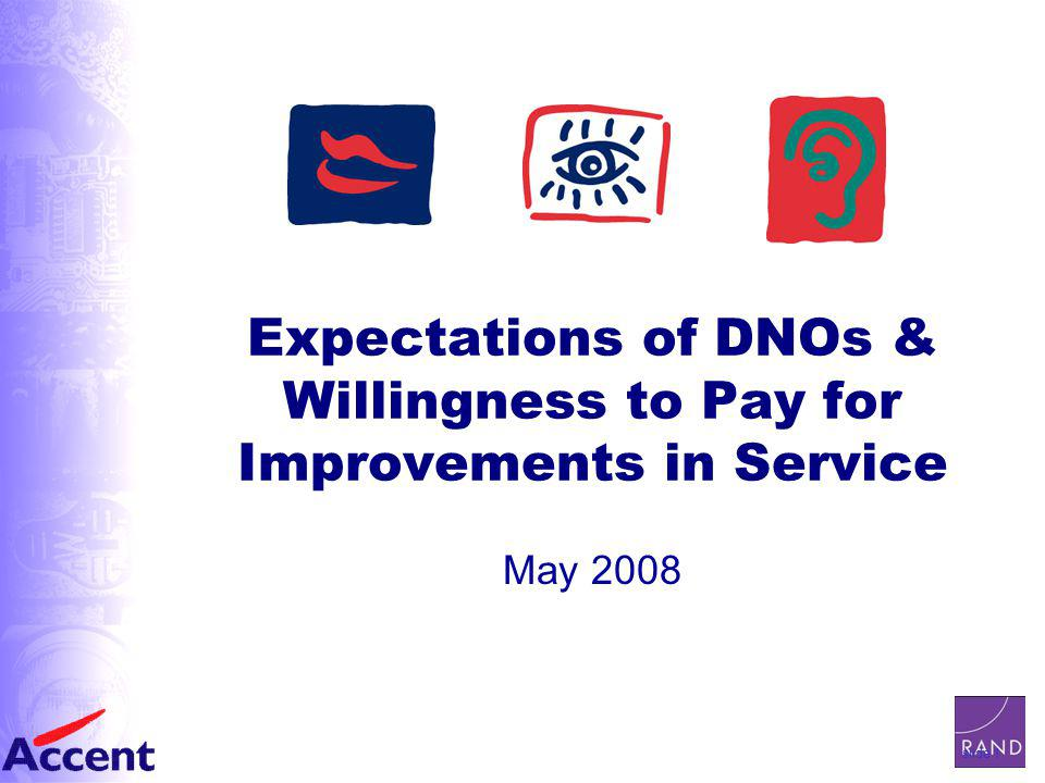 slide 1 Expectations of DNOs & Willingness to Pay for Improvements in Service May 2008