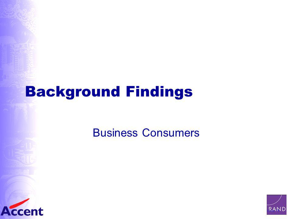 slide 19 Background Findings Business Consumers