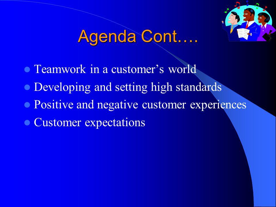 Agenda Cont….