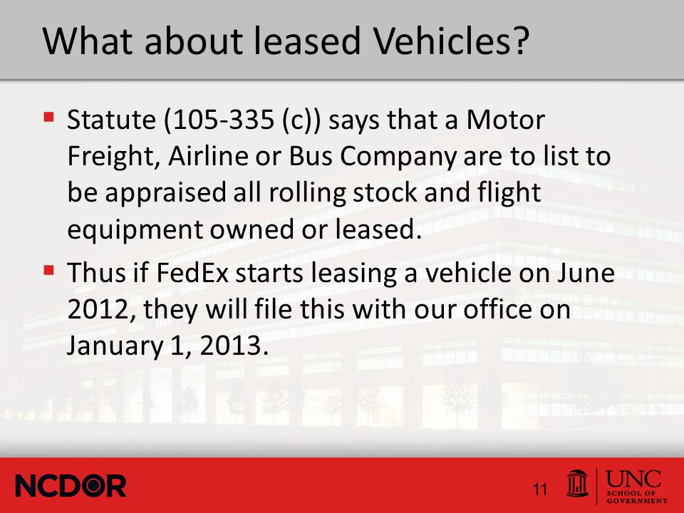 What about leased Vehicles.