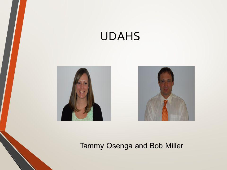 UDAHS Tammy Osenga and Bob Miller