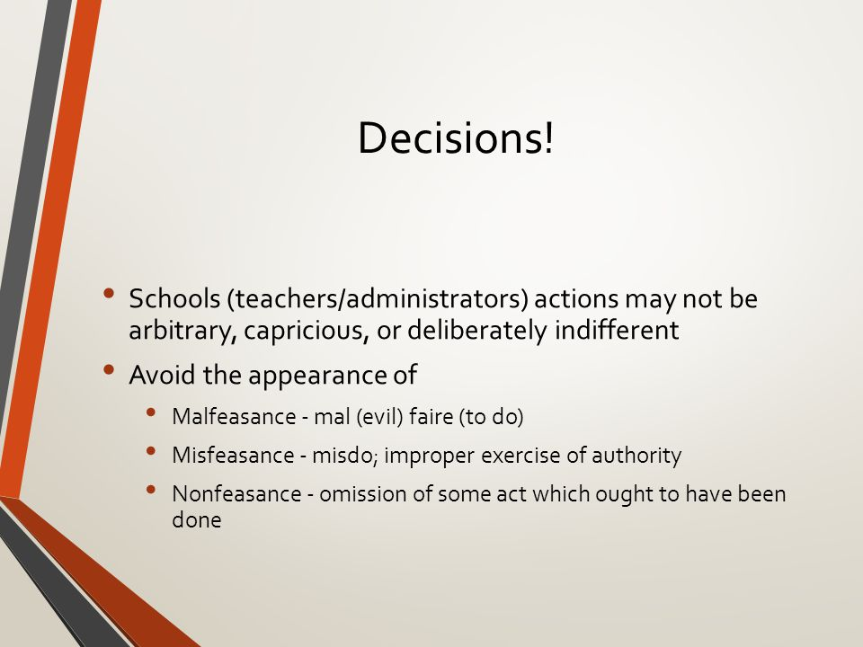 Decisions.