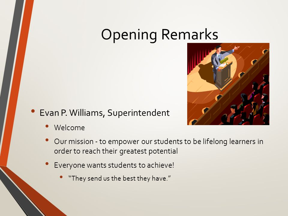 Opening Remarks Evan P.