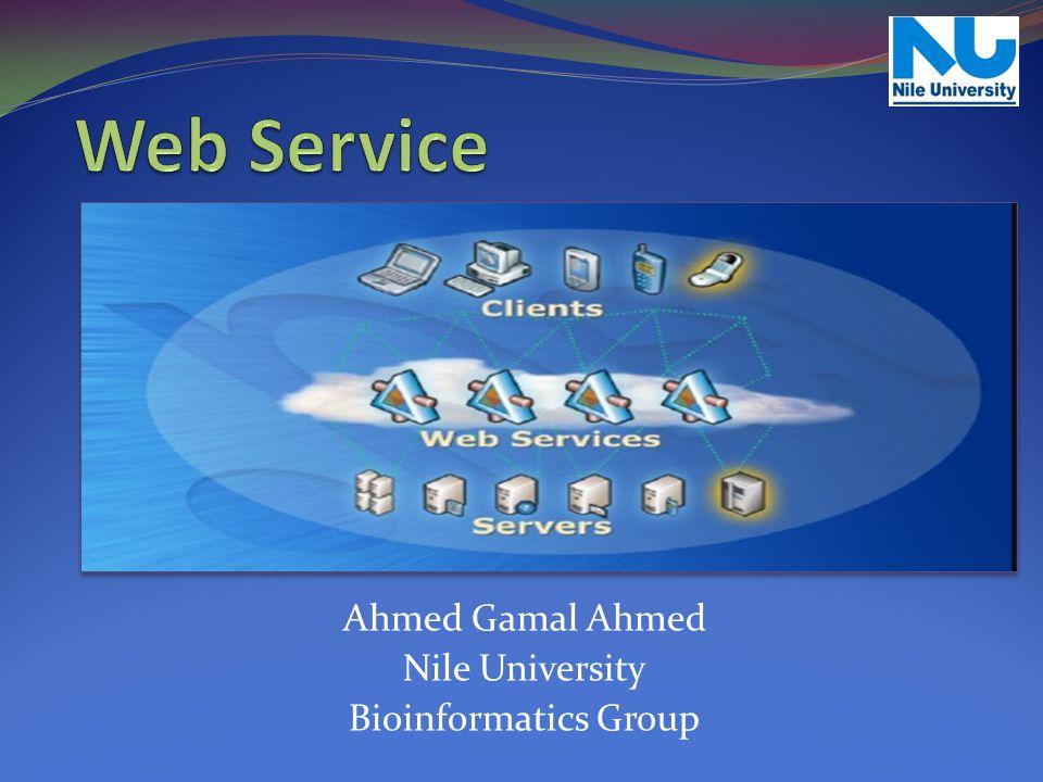 Ahmed Gamal Ahmed Nile University Bioinformatics Group