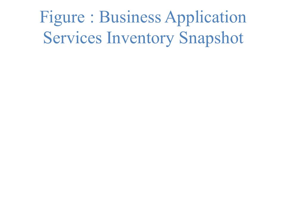 Figure : Business Application Services Inventory Snapshot