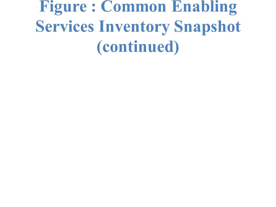 Figure : Common Enabling Services Inventory Snapshot (continued)