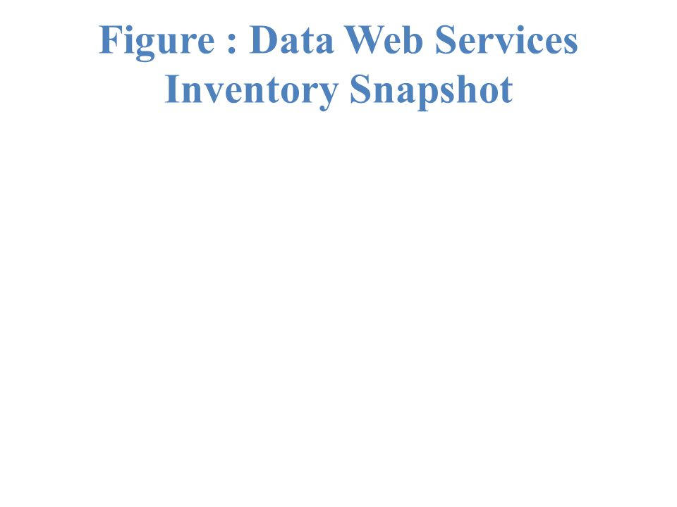 Figure : Data Web Services Inventory Snapshot