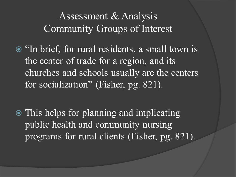 """Assessment & Analysis Existing Health Resources in Mecosta  """"There is ongoing debate as to whether anything is unique about rural nursing practice, b"""