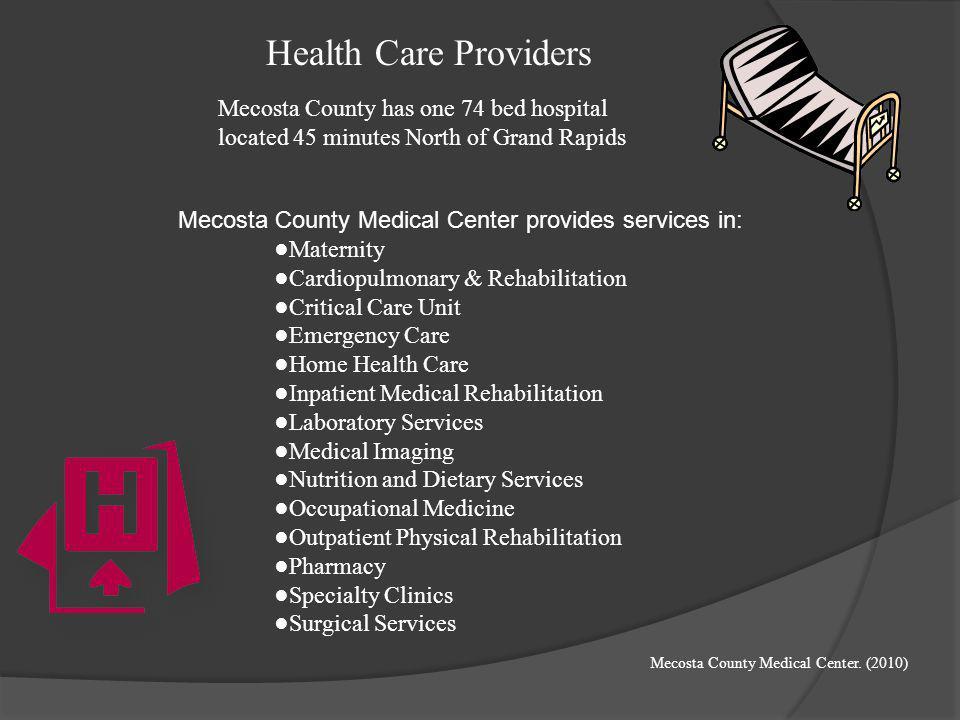 Recruitment & Retention in Mecosta County ☼Recognize the shortage of health care providers ☼Evaluating the ratio of health care providers to the numbe