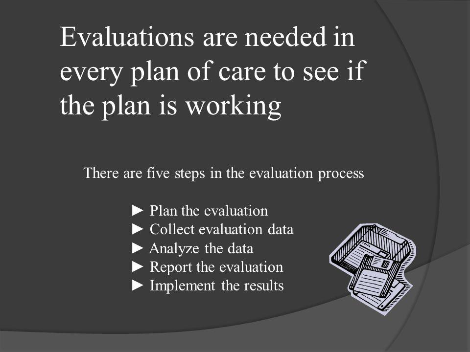 An evaluation is a critical appraisal or assessment; a judgment of the value, worth, character or effectiveness of that which is being assessed (Farle