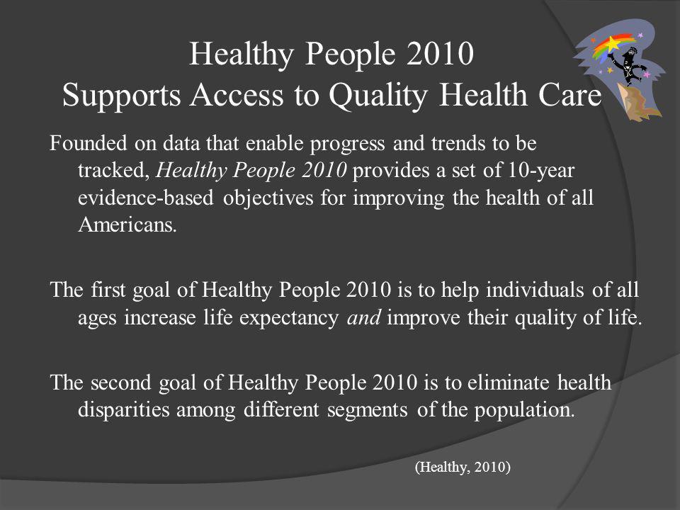 Support Groups Healthy People 2010 American Nurses Association (ANA) Institute of Medicine State Children's Health Insurance Program (SCHIP) American