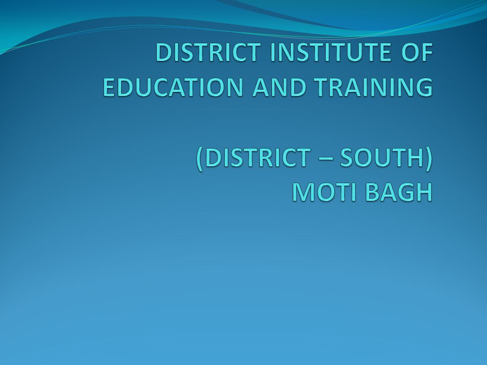 Programme Schedule for Assistant Teachers of District South the year 2010-2011 S.