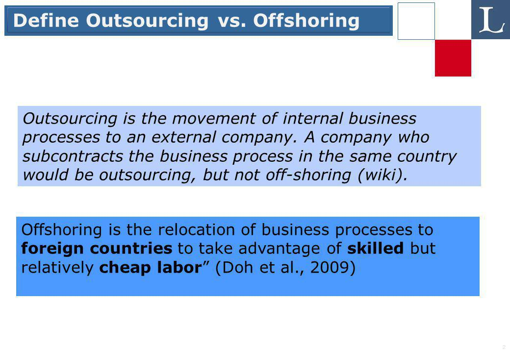 2 Define Outsourcing vs.