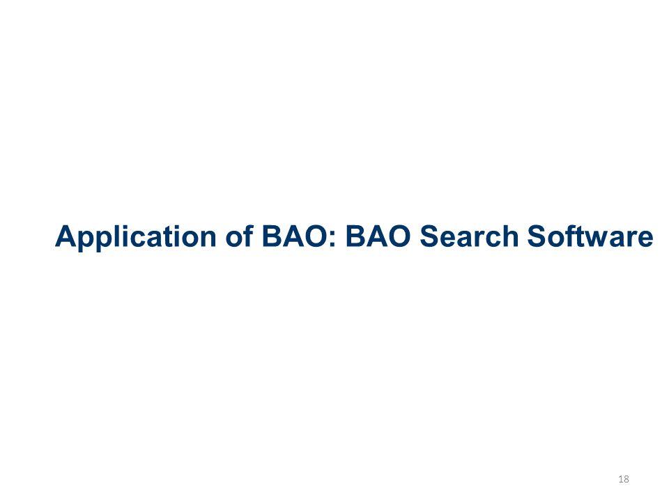 Application of BAO: BAO Search Software 18