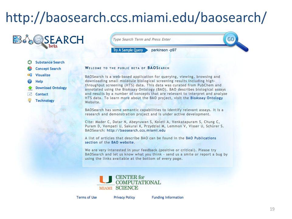 19 http://baosearch.ccs.miami.edu/baosearch/